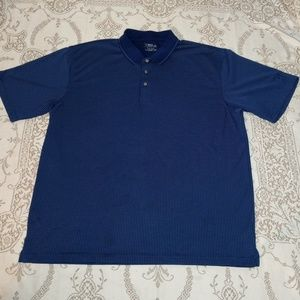 Blue PGA Tour Short Sleeve Golf Shirt Size XXL